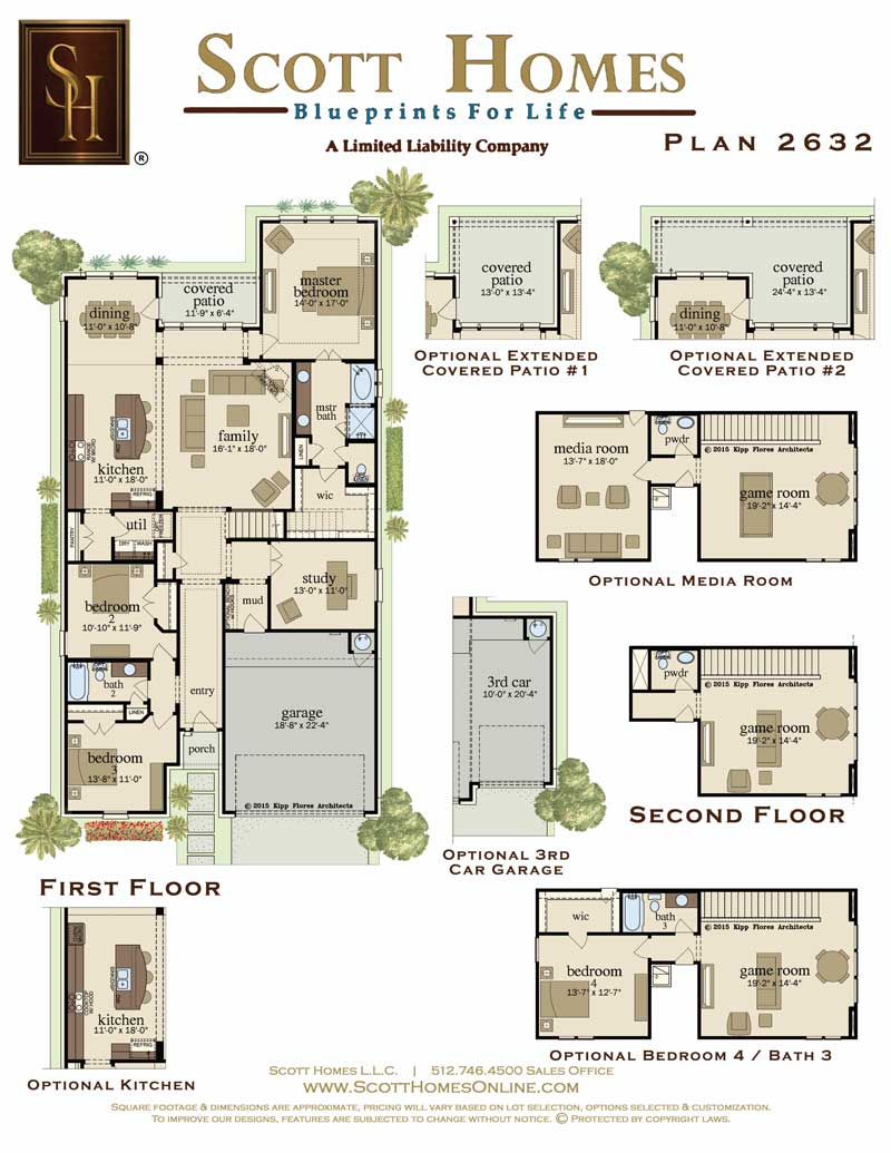 ... Single Story Home Plans With Virtual Tour. on scott felder floor plans